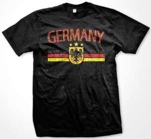 Germany German Flag Eagle Crest Sports Tee Mens T shirt