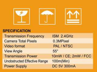 NEW 2.4G 8CH AV Receiver Wireless Mini CCTV Camera Kit