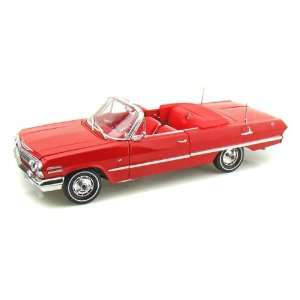 1963 Chevy Impala SS Convertible 1/18 Red Toys & Games