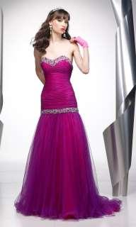 Alyce 6600 Purple Fuchsia 2 toned Prom Gown Dress 4