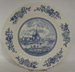 JOHNSON BROTHERS china TULIP TIME blue/white DINNER PLATE