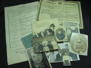 Yugoslavian Immigrants Photos, Naturalization Paper, Documents