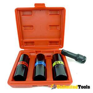 Impact Socket Lug Nut Remover Installer Kit Automotive Hand Tools Case