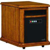 Infa red Infrared Quartz Portable Space Heater Wood Frame Box