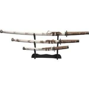 White Samurai Sword Set