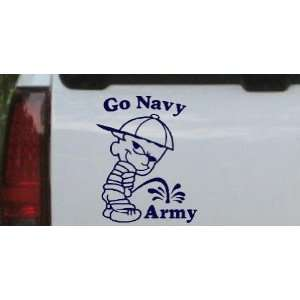 Go Navy Car Window Wall Laptop Decal Sticker    Navy 8in X