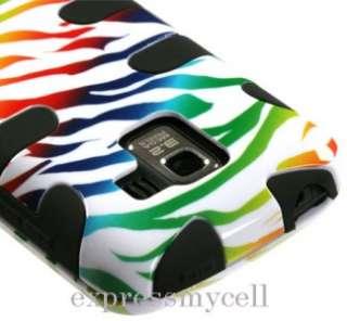 RB ZEBRA FISHBONE Impact Hybrid Case Cover for NET 10 Straight Talk LG