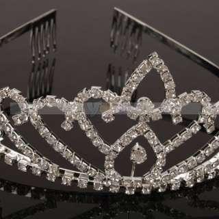 Shining Wedding Bridal Rhinestone Crown Headband Tiara