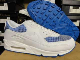Nike Air Max 90 White Blue Sneakers Womens Size 12