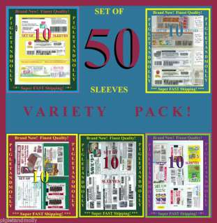 50 Coupon Binder Sleeve VARIETY PACK ORGANIZER Pages