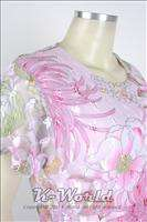 US 8~10, MEDIUM ★ PINK WOMENS SHORT SLEEVE TOP + FULL LENGTH SKIRT