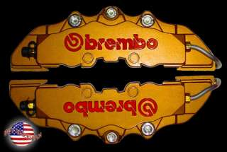 NEW BREMBO RACING STYLE BRAKE CALIPER COVERS HOLDEN COMMODORE VS VV VT