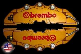 NEW BREMBO RACING STYLE BRAKE CALIPER COVERS HOLDEN COMMODORE VS VV VT