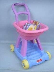 Fisher Price Fun With Food Shopping Cart With Food
