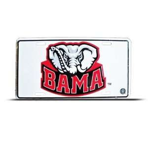 Alabama Crimson Tide Metal College License Plate Wall Sign Tag
