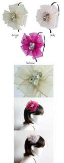 Soft Color Chiffon Pinwheel Flower Headband Hair Accessories 3COLORS