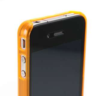Crystal See Thru Back Snap On Flexi Hard Skin Case Cover iPhone 4