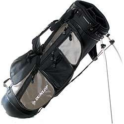 Dunlop Black/ Silver Dual strap Stand Golf Bag