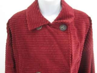 BILL BLASS Red Corduroy Long Sleeves Blazer Jacket M
