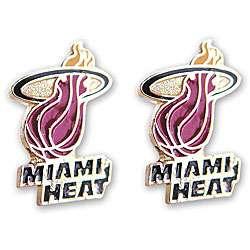 Miami Heat NBA Post Stud Logo Earring Set