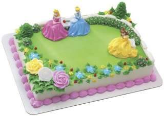 Princess Garden Royalty Birthday Cake Topper set kit party supplies