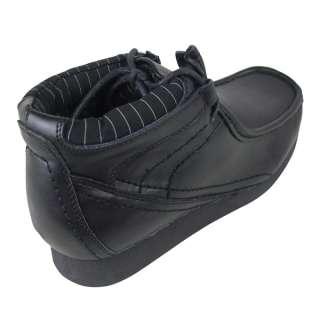 Top Designer Clothing   Mens Gola Black Leather Smart Boots School