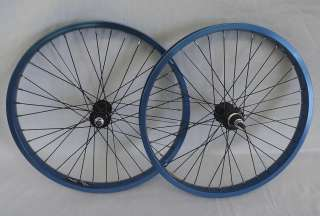 New XLC BMX Wheels Blue Ano 20 X 1.75 Old School BMX Complete Set Up