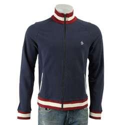 Original Penguin Mens Insignia Blue Cotton Track Jacket