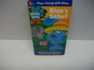 Blues Safari Kids VHS blue dog Cartoon video tape 097368395336