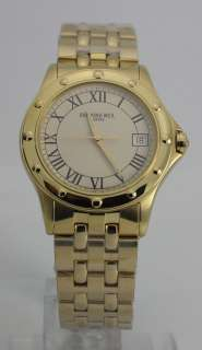 WEIL TANGO COLLECTION 18K GOLD TONE WATCH BOX PAPERS 37.25MM NR