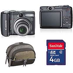 Canon A590 8MP Digital Camera with Case and SD Card