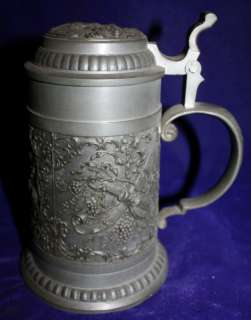 VINTAGE STEIN 7.5 GERMAN Lidded Beer Stein Sz 1 Pint/500 ml