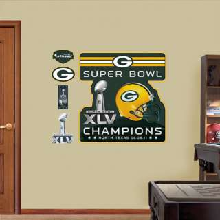 2010 NFL Superbowl Champion Green Bay Packers Logo Wall Decal at