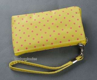 Dots Bow Heart Lady Girl Mobile Cell Phone Bag Case Pouches
