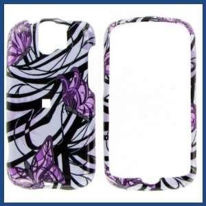 HTC MyTouch Slide Purple Butterfly Protective Case