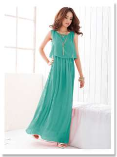 2012 New Spring&Summer Bohemian long chiffon skirt Dress Elastic