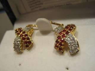 Gold Plated Sterling Leverback Fashion Earrings