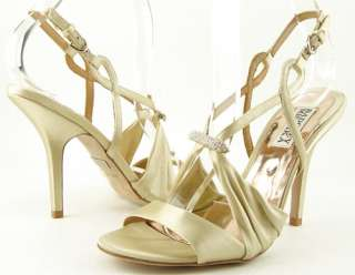 MISCHKA RUBY Ivory Gold WEDDING EVENING Womens Shoes Sandals 9.5