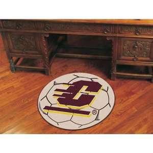 BSS   Central Michigan Chippewas NCAA Soccer Ball Round Floor Mat (29