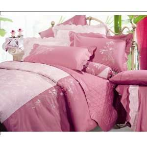 Para Para Sakura Embroidered Duvet Cover and Pillow Shams