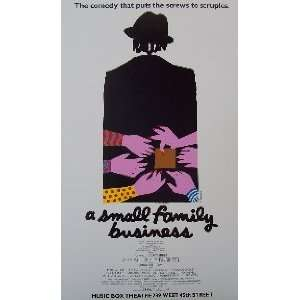 SMALL FAMILY BUSINESS (ORIGINAL BROADWAY THEATRE WINDOW CARD