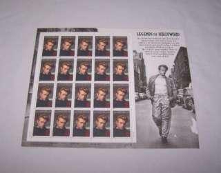 James Dean Hollywood Legend Stamp Sheet Rebel Jimmy