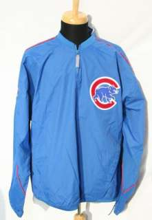 MAJESTIC CHICAGO CUBS Pullover Jacket Mens Large L NWT