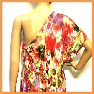 20 New Women Floral Vintage Hippie One Shoulder Long Maxi Dress