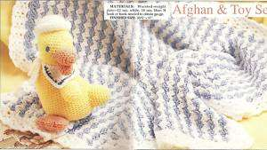 BABY AFGHAN & TOY CROCHET PATTERN