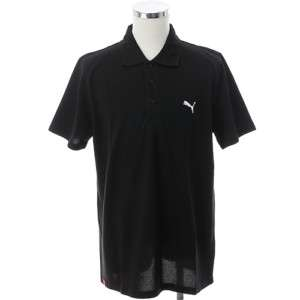 BN PUMA Mens Short Sleeve Polo Shirt Black M XXL