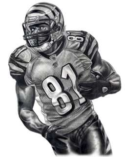 TERRELL OWENS LITHOGRAPH POSTER PRINT IN BENGALS JERSEY