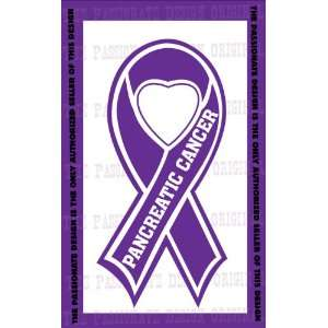 Pancreatic Cancer Ribbon Decal 4 X 7