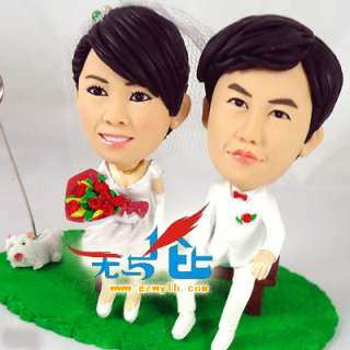 wedding cake topper Polymer clay doll unique Gifts