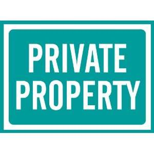 Private Property Sign Removable Wall Sticker